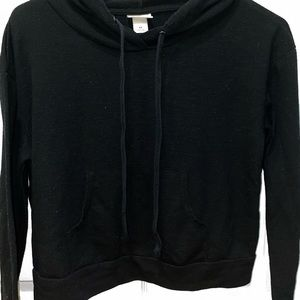 mossimo supply co black xs cropped hoodie